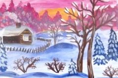 Зимнее-утро - Антон-Бодоряк