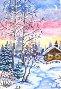 Зимнее утрро Лузина Юля - 15 лет