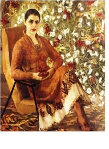 картина жена художника