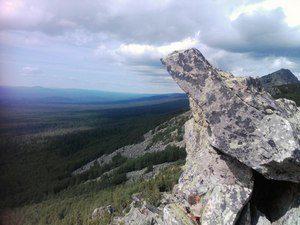 Вид с гор Таганая