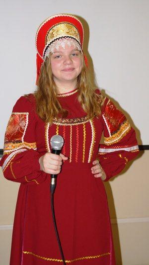 Юлия Некрасова исполняет песню